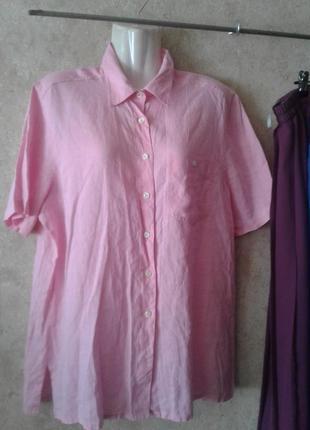 Блузка рубашка льняная