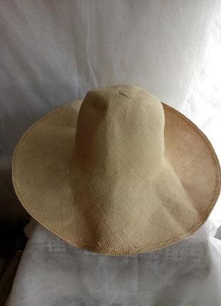 Шляпа женская широкополая  соломенная размер 59/хl