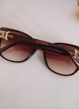 Эксклюзивные брендовые коричневые солнцезащитные женские очки кошечки 2021