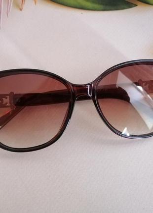 Эксклюзивные брендовые коричневые солнцезащитные женские очки кошечки 20213 фото