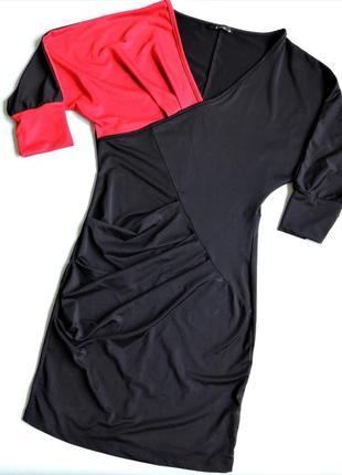 Платье kikiriki p.m (s)  трикотажное с драпировкой,рукав 3/4, молодежная одежда