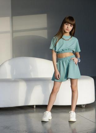 Топ +шорти-юбка