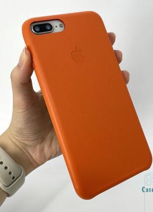 Кожаный чехол iphone 7+ 8+ айфон