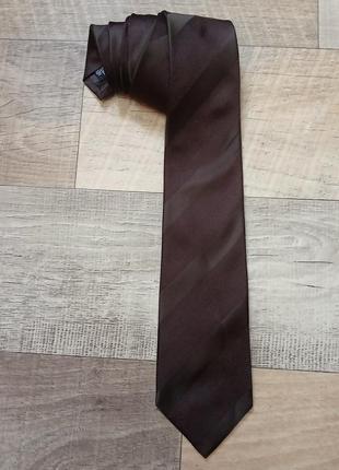 Giorgio armani шикарный шёлковый галстук