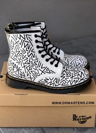 Dr martens 1460 white ботинки мартинсы черевики жіночі