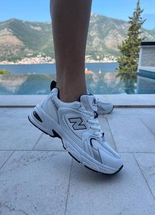 Женские кроссовки new balance 530 white/ grey   жіночі кросівки білі