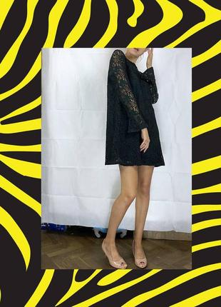 Платье кружево сарафан коктейльное волан платьице