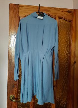 Новое летнее платье сукня шикарное платье пастельно голубого цвета topshop