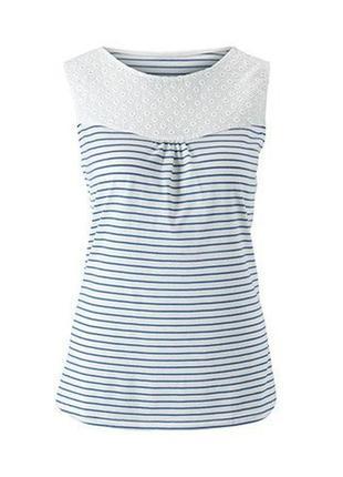 Майка-блузка с кружевной вышивкой tcm tchibo