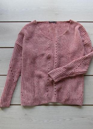 Велюровый мягкий свитер свободного кроя оверсайз от stradivarius