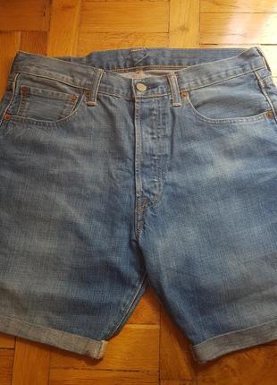 Стильные джинсовые шорты классика levis оригинал