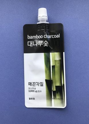 Очищающая маска с бамбуквым углем aritaum bamboo charcoal fresh power essence pouch pack