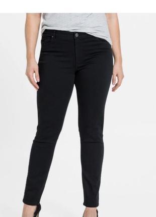 Стрейчевые джинсы скинни классические брюки однотонные от esmara