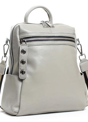Женская сумка- рюкзак изготовлена из натуральной мягкой кожи. черная, бордо, серая!