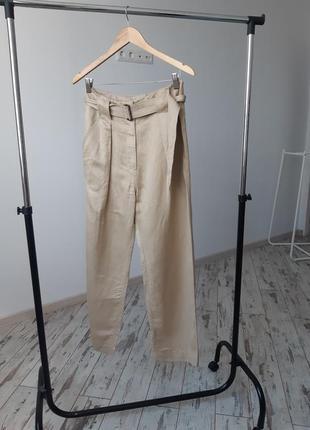 Стильные брюки marks&spenser лен вискоза