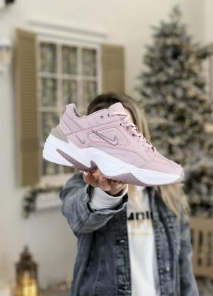 Кроссовки женские nike m2k tekno pink/white