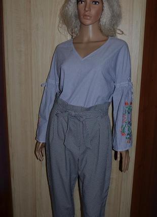 Блуза с вышивкой primark 8 размер