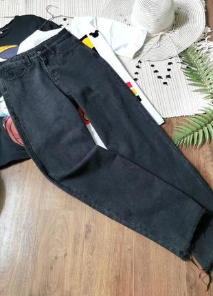 Широкі джинси кольору графіт shein чёрные серые широкие джинсы палаццо