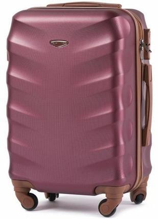Чемодан дорожный (дорожная сумка) пластиковый на 4 колёсах средний 402 m wings (бордовый / wine red)