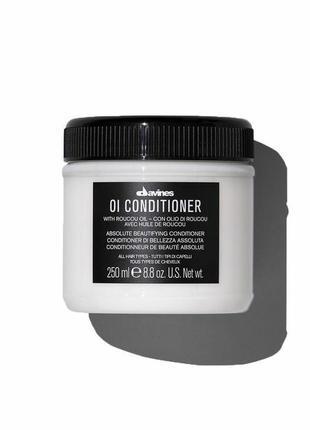 Кондиціонер для абсолютної краси волосся davines oi conditioner with roucou oil 250 мл
