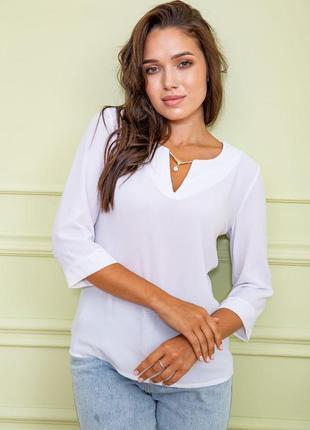 Легкая женская блузка из шифона однотонная женская блузка шифоновая женская блузка с украшением