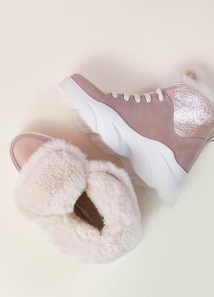 Акция зимние ботинки замша кожа р38,40 хайтопы сапоги кеды черевики хайтопи чоботи кеди