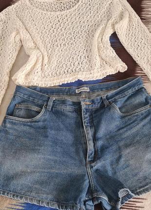 Шерты джинсовые 🔥на пышные формы 👍