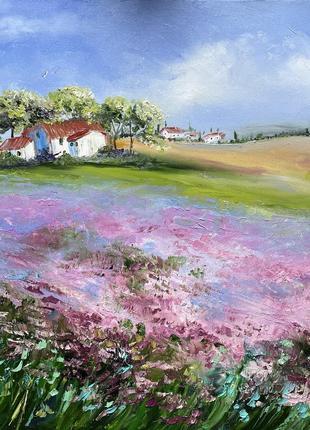 Картина «пейзаж» масло живопись