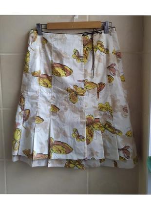 Стильная юбка известного бренда karen millen принт бабочки