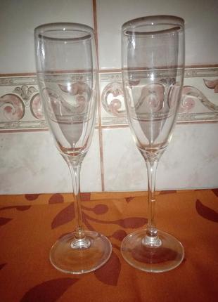 Набор бокалов для вина. шампанского