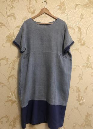 Льняное платье италия