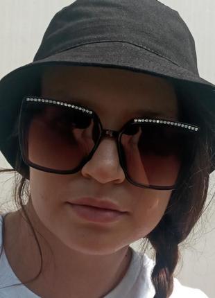 Стильные итальянские очки квадратные крупные очки со стразами новинка хит эксклюзив италия
