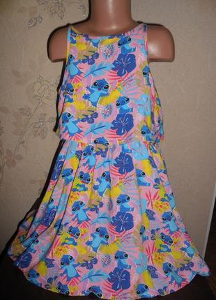 Легкое платье *disney* вискоза, есть подклад котончик, спинка открыта, 9-10 лет