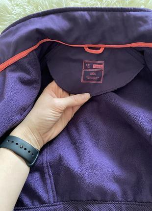 Ветровка куртка дождевик на флисе 💜💜💜3 фото