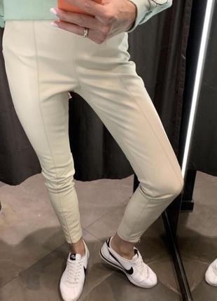Леггинсы из эко кожи zara/новые кожаные штаны брюки лосины