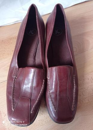Модельные элегантные деловые коричневые кожанные туфли/ кожа шкіра