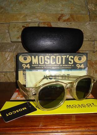 Очки солнцезащитные moscot lemtosh sun (crystal flesh / caliber green) джонни депп