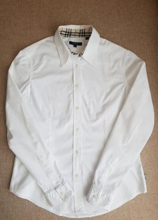Базова біла рубашка сорочка приталеного крою burberry