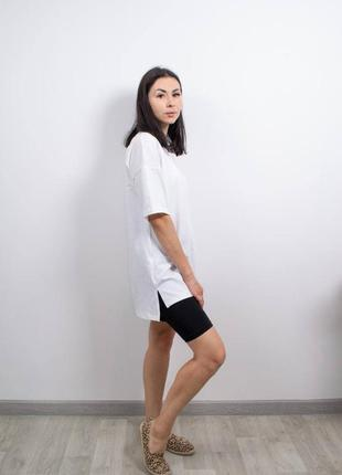 Длинная белая футболка оверсайз, отличное качество, хлопок