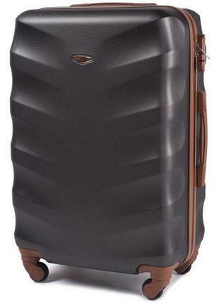 Чемодан дорожный (дорожная сумка) пластиковый на 4 колёсах большой 402 l wings  ( черный / black )