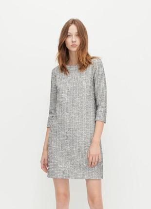 Женское стильное твидовое платье reserved размер хс-с