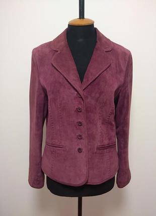 Замшевый пиджак куртка замш натуральный