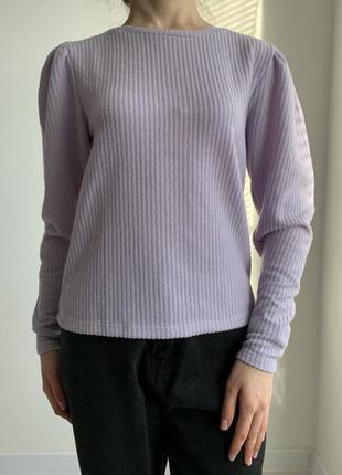Кофта жіноча фіолетова, трендова кофта з рукавами-фонариками, тренд 2021.