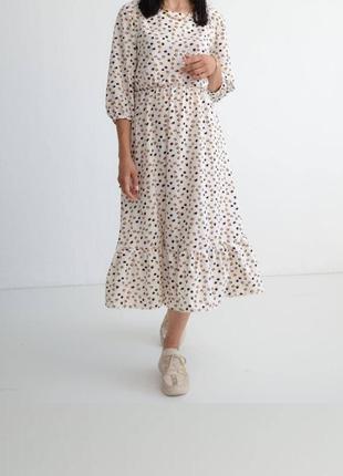 Новинка 🔥 трендовое летнее платье отличного качества, женское белое платье миди с принтом, 5 цветов