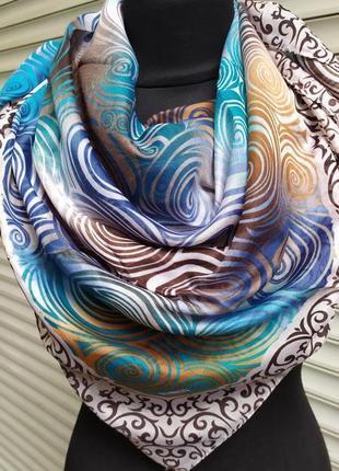 Легкий разноцветный платок3 фото