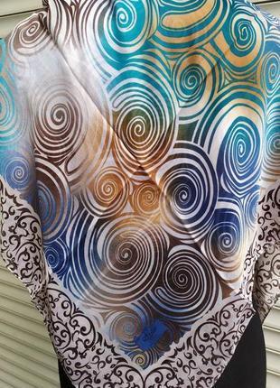 Легкий разноцветный платок4 фото