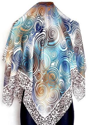 Легкий разноцветный платок5 фото