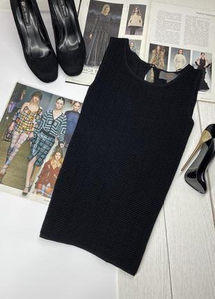 Новая черная рельефная блуза вязаная майка лёгкая на лето m next