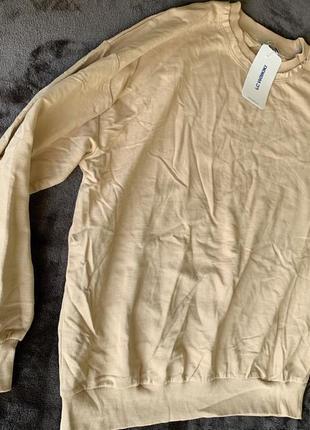 Світшот жіночий оверсайз кофта бежева свитшот бежевый свитер трендовый свитер