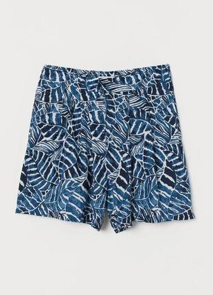 Легкие натуральные шорты из вискозы h&m с карманами